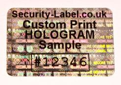 Transparent Holographic Label